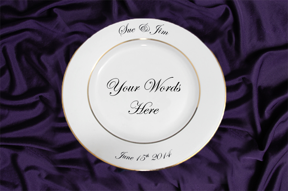 Gold Or Silver Rim Charger Plate Custom Wedding Plates